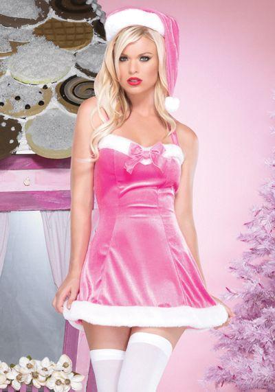 gullis lingerie fantasias sexy christmas vestido veludo mam e noel gorro rosa e meia 7 8. Black Bedroom Furniture Sets. Home Design Ideas
