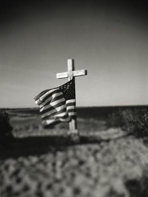 Michael Schley. American Flag. Provincetown MA. Cape Cod. Gelatin Silver Print.