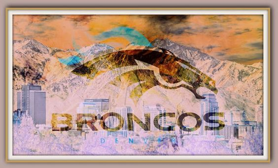 Denver Broncos  8.5 x 11 or  11 x 16 by MerrickMillerStudio