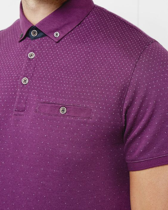 Ombre polo shirt - Purple   Tops & T-shirts   Ted Baker UK