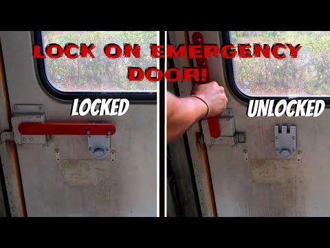 Installing Jimmy Proof Lock On Our Emergency Doors Skoolie Conversion Gus The Struggle Bus Youtube In 2020 Skoolie Struggle Bus Installation