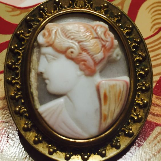 Cameo Brooch C clasp and tube hinge thus by doubletakesantafe