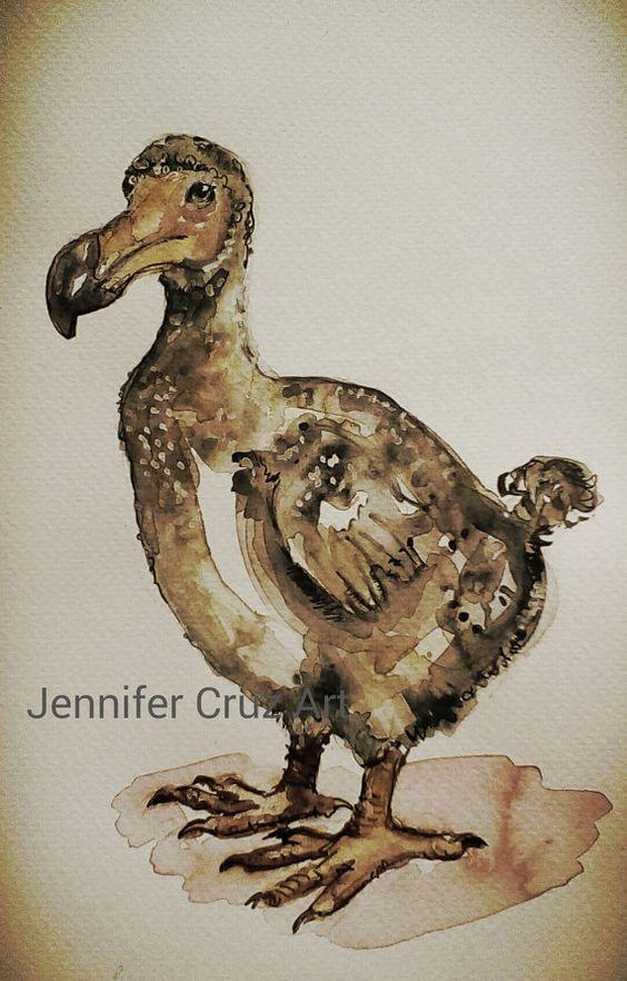 Vintage style Dodo.Extinct bird art.antique look by WaggledanceArt