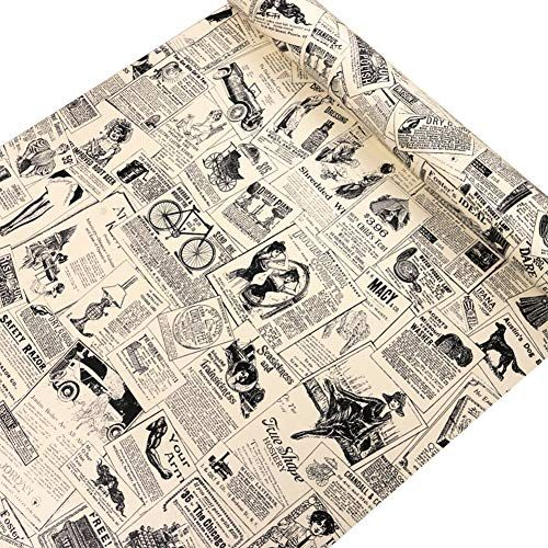 Lifavovy Vintage Newspaper Peel And Stick Wallpaper Decor Https Www Amazon Com Dp B0 Removable Vinyl Wall Art Peel And Stick Wallpaper Removable Wallpaper