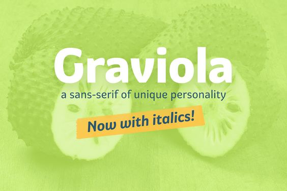 Graviola Typeface | Free for personal & commercial use