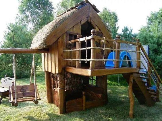 kinder spielhaus spielturm kinderhaus stelzenhaus. Black Bedroom Furniture Sets. Home Design Ideas