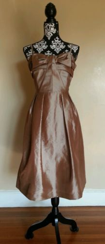 Eliza J #EJ0M7786 Tan Wedding Guest Formal Bridesmaid Dress Size 12