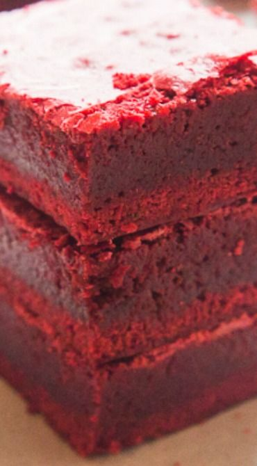 Decadent Red Velvet Brownies