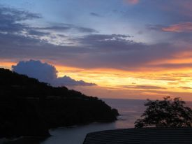Sunset from 4 Seasons Hotel Papagayo - Papagayo Gulf, Guanacaste