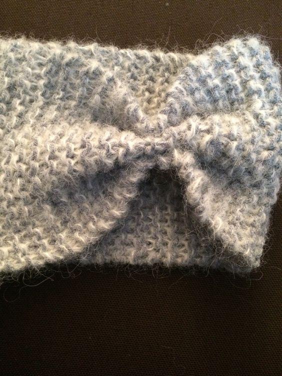 tuto tricot bandeau point mousse