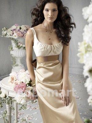Bridesmaid Dresses Under 100-White Champagne Brown Bridesmaid ...