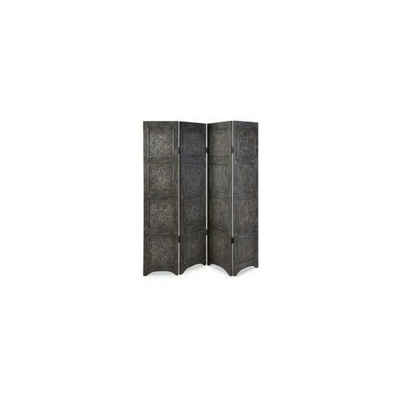Atticus Distressed Floor Screen ❤ liked on Polyvore
