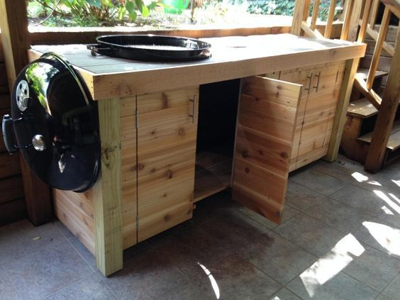 Weber Grill Cabinet Grill Table Bbq Table Weber Grill Table