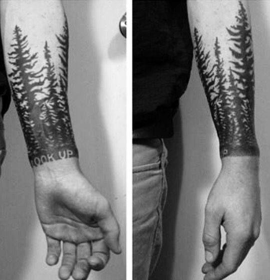 50 Tree Line Tattoo Design Ideas For Men Timberline Ink Tree Line Tattoo Tree Sleeve Tattoo Pinterest Tattoo Ideas
