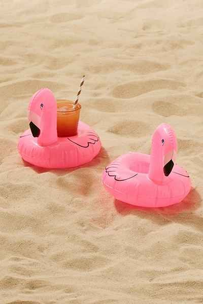 flamingo drink holder pool floaties
