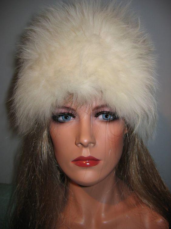 Vintage White Fur HAT   1960's  Julie Christie Dr by thegroove, $24.96