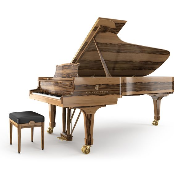 Amber veneer from the steinway sons crown jewel for Small size piano