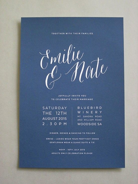 Modern Wedding Invitation Poems : wedding invitations wedding invitation wording fonts navy modern ...