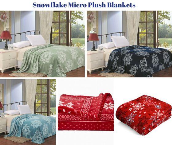 Snowflake Micro Plush Blankets