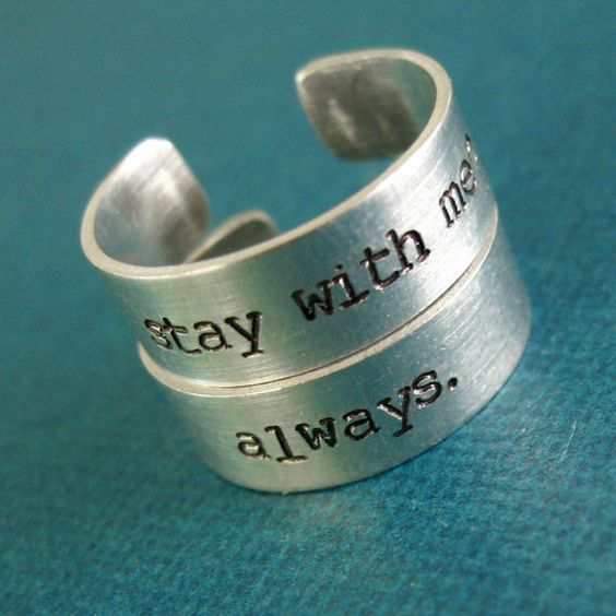 Hunger Games Rings Katniss & Peeta  Pair of by SpiffingJewelry, $22.00