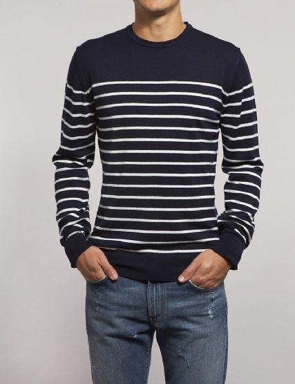 Blue + Stripes + Slim fit .... Nice
