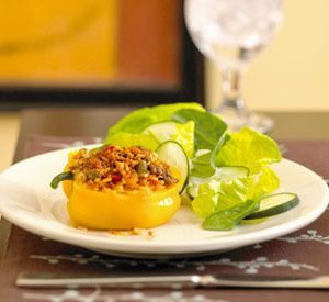 Stuffed Yellow Peppers: Best Recipes, Chicken Recipes, Dinner Bell, Cal Dinners, Diabetic Dinners, Diabetic Recipes, Recipes Dinner, Conscious Recipes