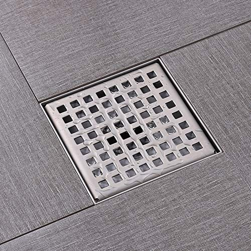4 X 4 Inch Square Shower Floor Drain With Removable Quadrato Pattern Grate For Bathroom And Kitchen Made Of 304 Floor Drains Shower Floor Shower Drain Covers