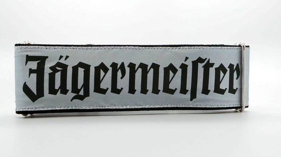 Jagermeister Dog Collar Martingale Buckle or Tag by dogsbythebay
