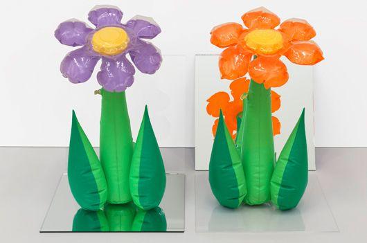Inflatable Flowers (Tall Purple, Tall Orange) jeff koons 1979