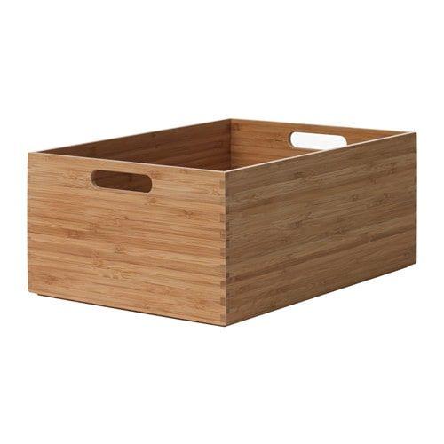 Skakare Storage Box Bamboo 26x35x15 Cm Small Storage Boxes Storage Boxes Ikea Storage Boxes