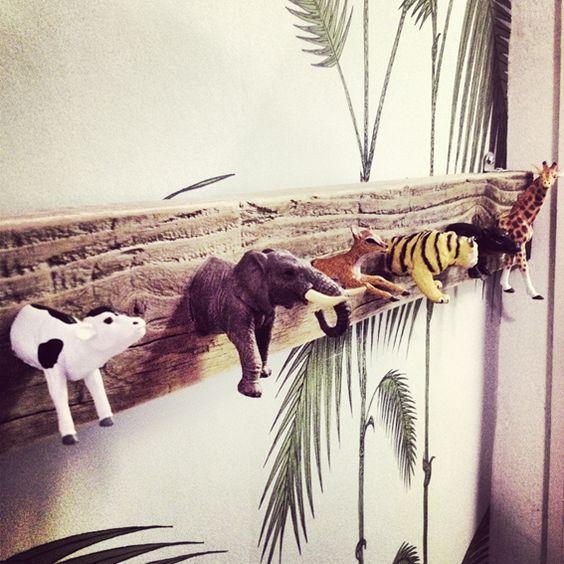 Patère murale jungle