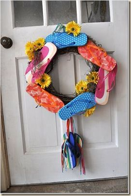 Flip flop wreath. Why not!