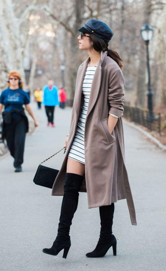 Como usar bota de cano alto? 12 looks de inverno pra te inspirar