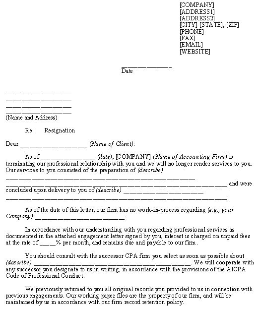 Engagement Letter Sample Cpa