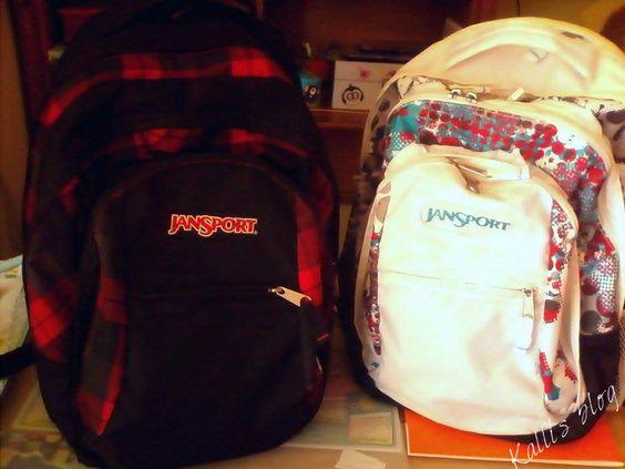 Οι σχολικές μας τσάντες! ~ Kalli's blog