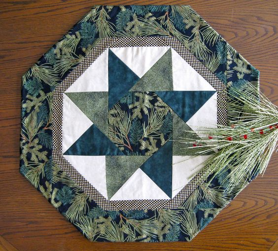 Free Stella Table Topper Pattern Twisting Star Table