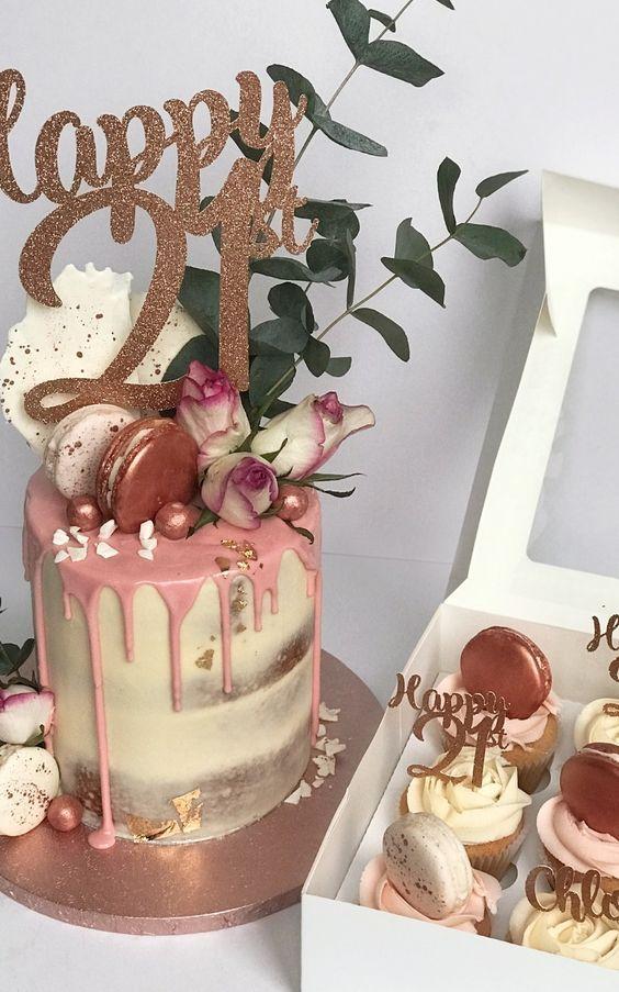 Or Rose Tall bougies avec chandeliers pour gâteau d/'anniversaire Décoration//Topper