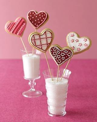 Valentine heart cookies: