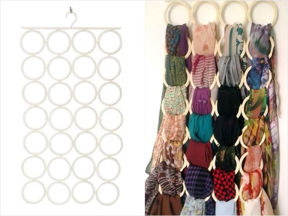Home decorating ideas home improvement cleaning for Scarves hanger ikea