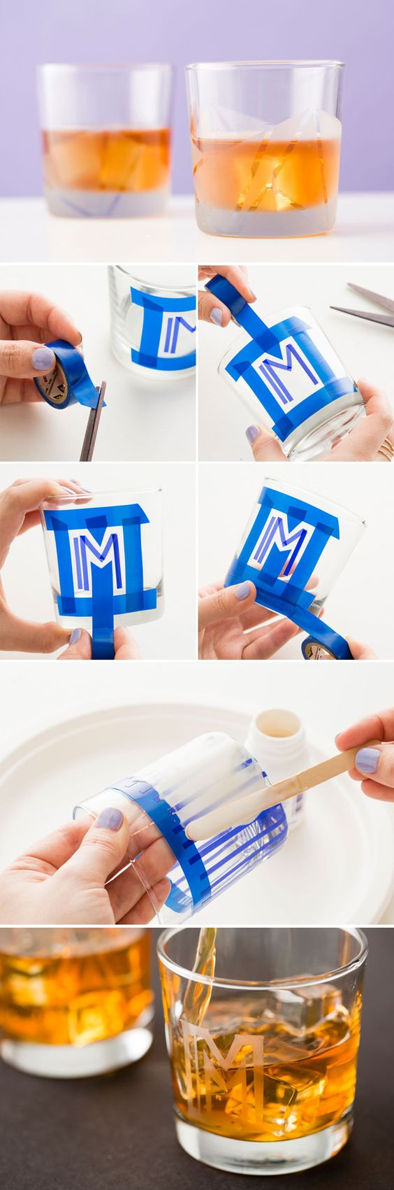 Use this kit to make your own etched glassware.