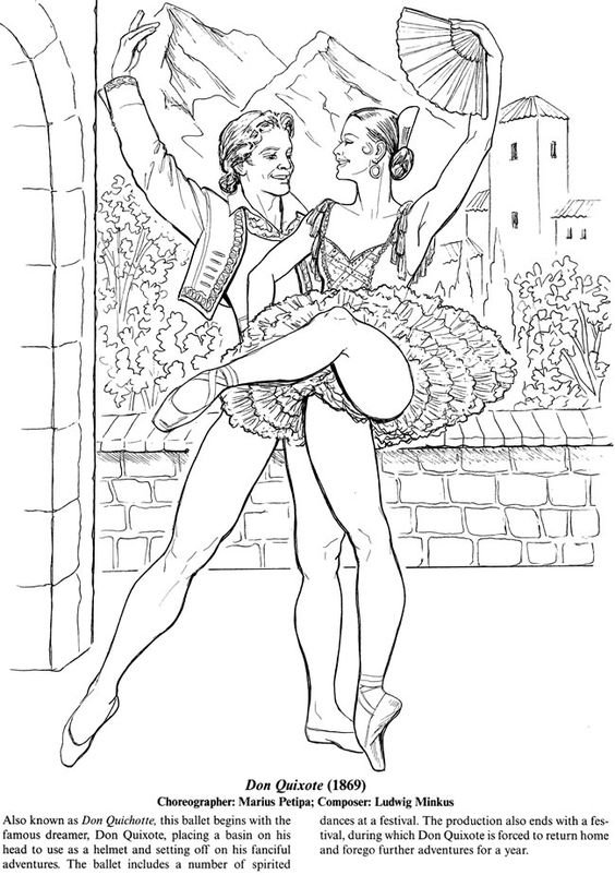ballet coloring pages for adults - photo#21