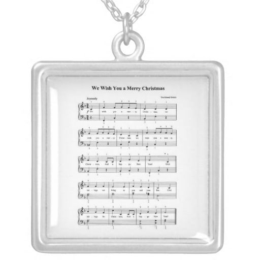 Christmas Music Necklace