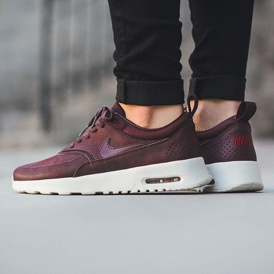 Nike Wmns Air Max Thea Premium 'Mahogany/Mahogany-Team Red-Sail' Available now @titoloshop by titoloshop