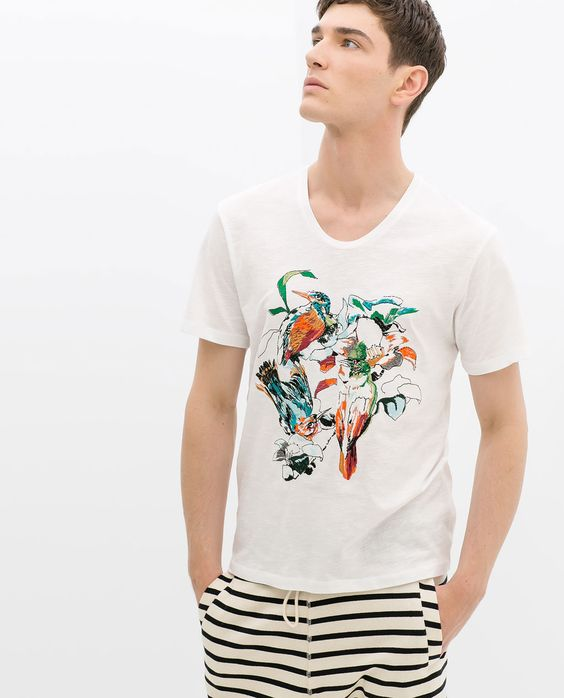 ZARA - MAN - EMBROIDERED T-SHIRT