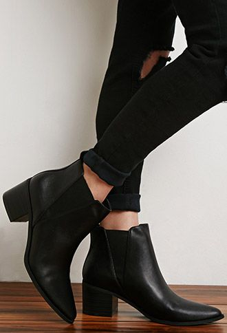 Faux Leather Chelsea Booties | Forever 21 | #stepitup