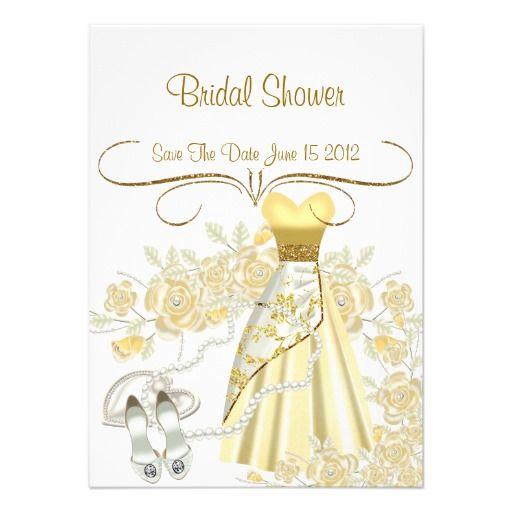 Elegant save the date bridal shower invitation bridal for Designer bridal shower invitations