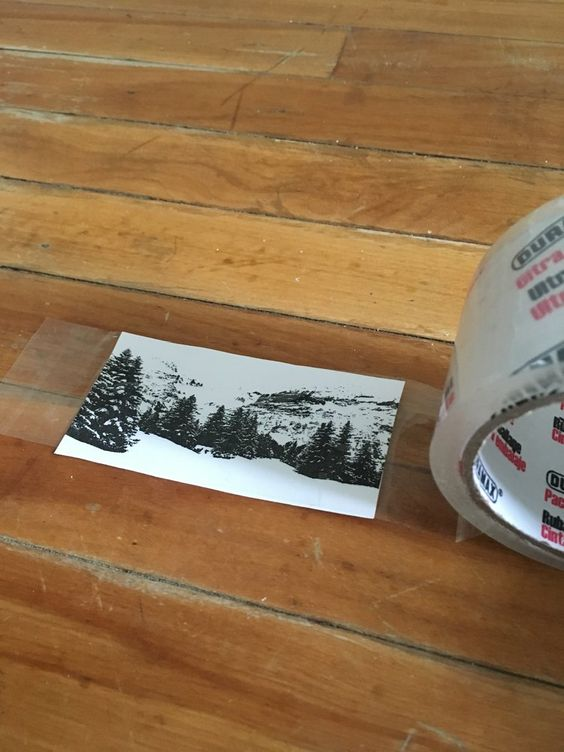 Easy Packing Tape Transfer Method! — Rapid Resizer Arts & Crafts Tips