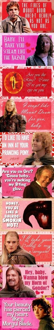 Laughed right out loud at some of these... A little LotR humor!! o.O