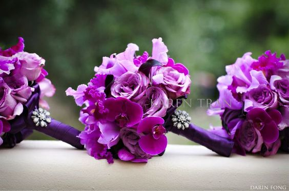 Powerful Purple Bridal Bouquet | Via Denise Reineking
