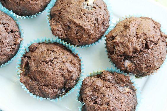 rocky road chocolate muffins
